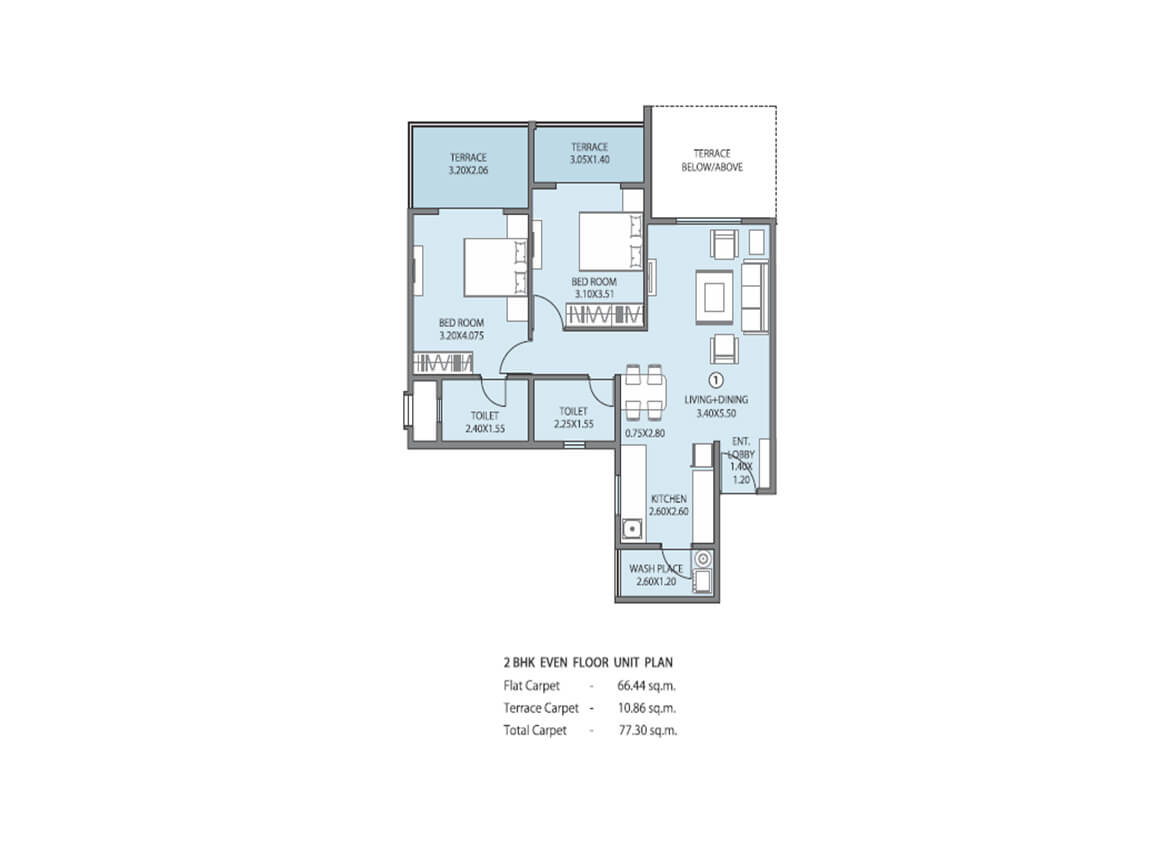 Township in ambegaon 2 bhk homes in ambegaon pune for Unit building plans