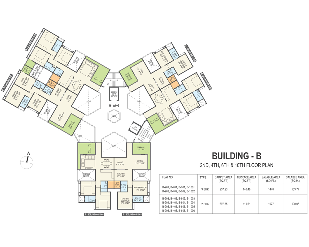 2bhkd 3 Bhkd Apartments In Wakad Courtyard One Concept